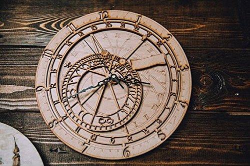 Discount!!! Prague wall clock Astrology wall clock Zodiacal clock Sea adventures Explorers (Clock Prague Wall)
