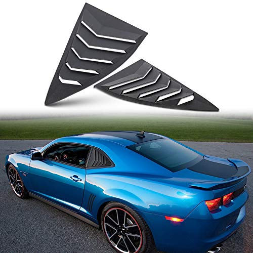 Chevrolet Quarter Window - 2PCS Quarter Side Window Louvers Cover Fit for Chevy Chevrolet Camaro 2010-2015 ABS Black Window Visor Sun Rain Shade Vent
