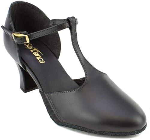 So Danca CH54 T-Strap Character Shoe 2 Heel
