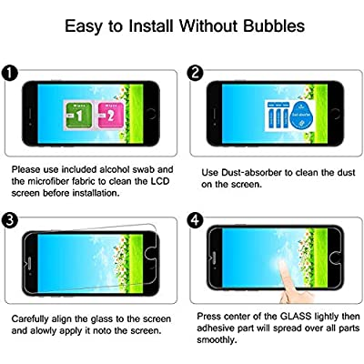 The Grafu Screen Protector for Huawei Honor 4C, 9H Hardness Tempered Glass, Bubble Free, Anti Scratch Screen Protector for Huawei Honor 4C, 3 Pack: Baby