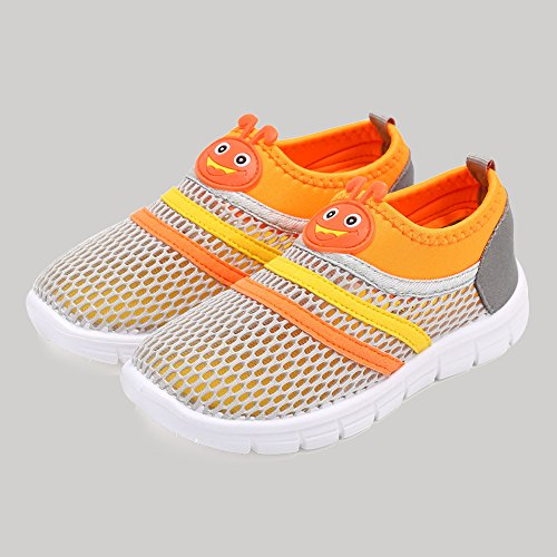CIOR Kids Aqua Shoes Breathable Slip-on Sneakers For Running Pool Beach Toddler / Little Kid / Big Kid,X1107,Grey,26 5