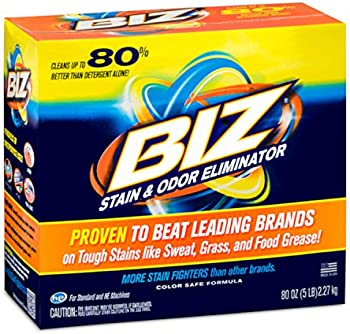 Biz Laundry Detergent Powder Booster, Stain & Odor Removal 80 Ounces