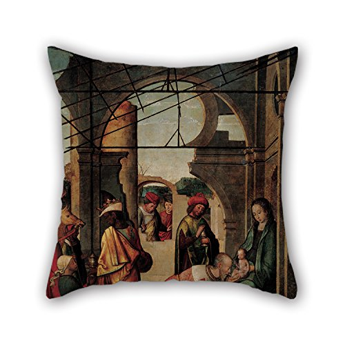 [Pillowcase Of Oil Painting Anonymous Follower Of Juan De Borgoña - The Adoration Of The Magi 20 X 20 Inches / 50 By 50 Cm,best Fit For Birthday,father,bedroom,gf,teens Girls,office Double] (Anonymous Man Costume)