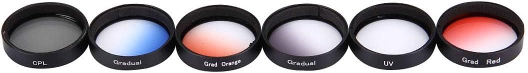 MEETBM ZIMO,JUNESTAR 6 in 1 Profesional 34mm Lens Filter CPL + UV + Gradual Red + Gradual Orange + Gradual Blue + Gradual Grey for DJI Phantom 3 /& 4