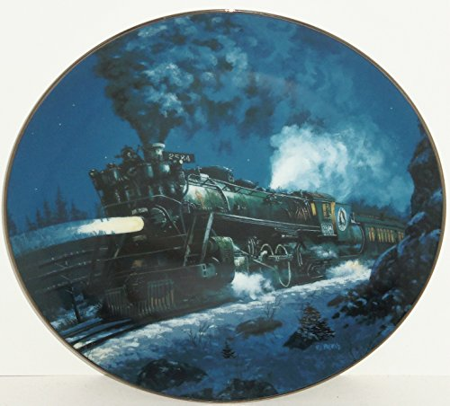 (Train Plate Knowles Collector Empire Builder Romantic Age Steam Engines Retired)
