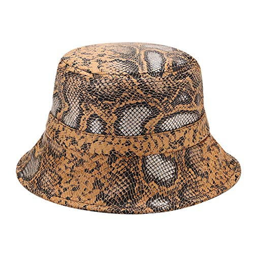 Unisex Snakeskin Pattern Tactical Bucket Hat, Durable & Foldable Sun Protection Travel Boonie Hat, Fisherman Hat for Outdoor Sports Fishing, Hiking, Camping