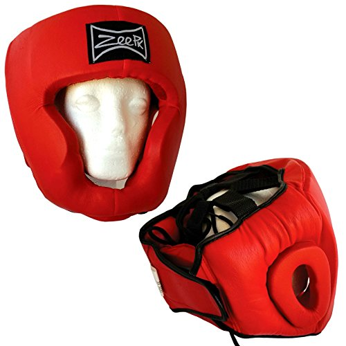 Zeepk Boxing & Martial Arts Headgear Protective Gear Leather MMA UFC Fighting Head Guard Sparring Helmet X-Large