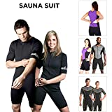 Kutting Weight (cutting weight) neoprene weight loss sauna suit Black 5XL