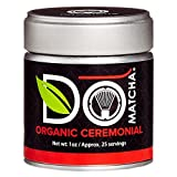 DoMatcha - Organic Ceremonial Matcha Powder, Authentic Japanese Green Tea Rich with Antioxidants and L-Theanine, 25 Servings (1 oz)