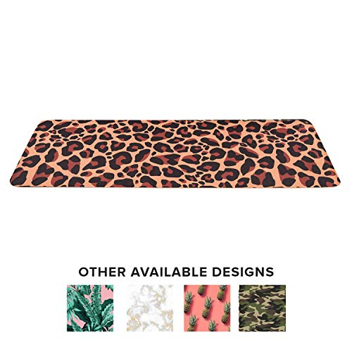 Lightweight Designer Yoga Mat with Carrying Strap Eco Friendly TPE Workout Fitness Mat Double Layer Non Toxic Recyclable Exercise Mats Perfect for Pilates, Gymnastics, Meditation (Leopard)