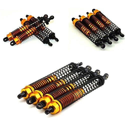 130mm Gold Alloy Dampers (4) - Oil Shocks for 1:10 Rc Crawlers Suit (Oil Damper Set)