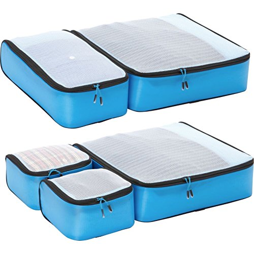 Price comparison product image eBags Ultralight Packing Cubes - Super Packer 5pc Set (Blue)