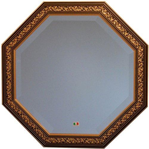 イタリア製 JHAアンティーク風水ミラー エクセレント (ダークグリーンブルーゴールド) 正八角形W477×H477 IE-112 (デラックス:面取り加工)八角ミラー 八角鏡 壁掛け鏡 ウォールミラー B01NBZR1J3 ダークグリーンブルーゴールド ダークグリーンブルーゴールド