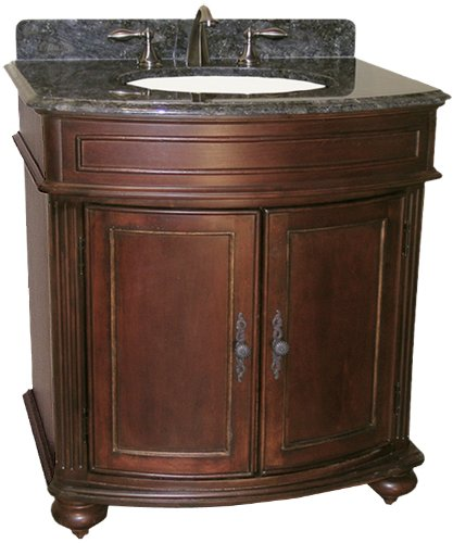 Kaco international 5300-3000-1005AB Arlington 30-Inch Vanity in Distressed Cherry Sherwin Williams Finish with Black Granite top - Distressed Cherry Finished Top