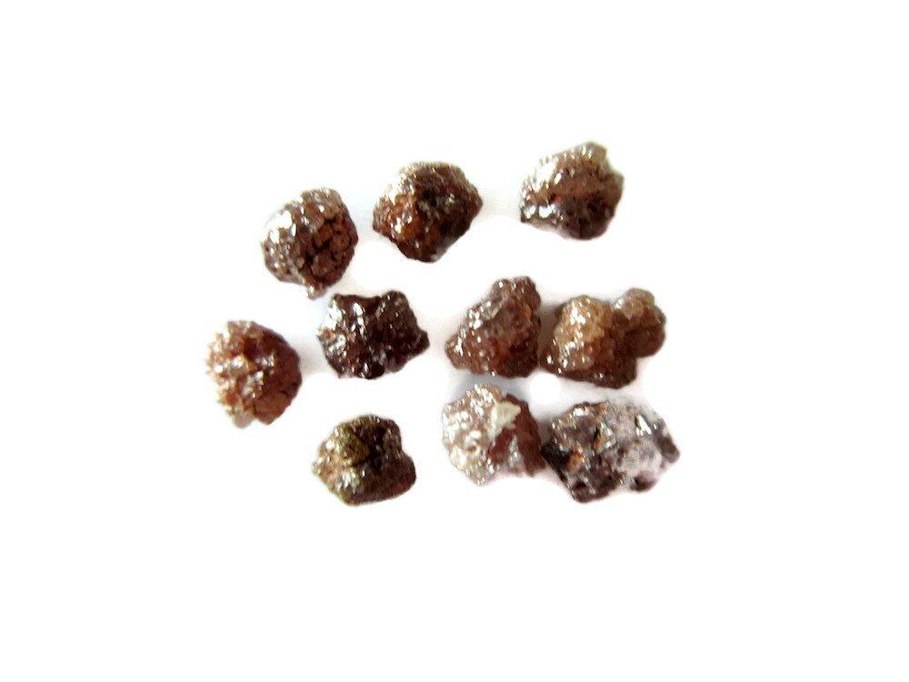 2 Pieces Raw Red Diamonds, Natural Rough Uncut Diamonds, 5mm Each, SKU-Dd45p