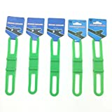 5 Pcs Silicone Gel Road Bike Mountain Bicycle Cycling Cycle Bike Phone Torch Light Pump iPod Water Bottle Holder Strap Band (Green)