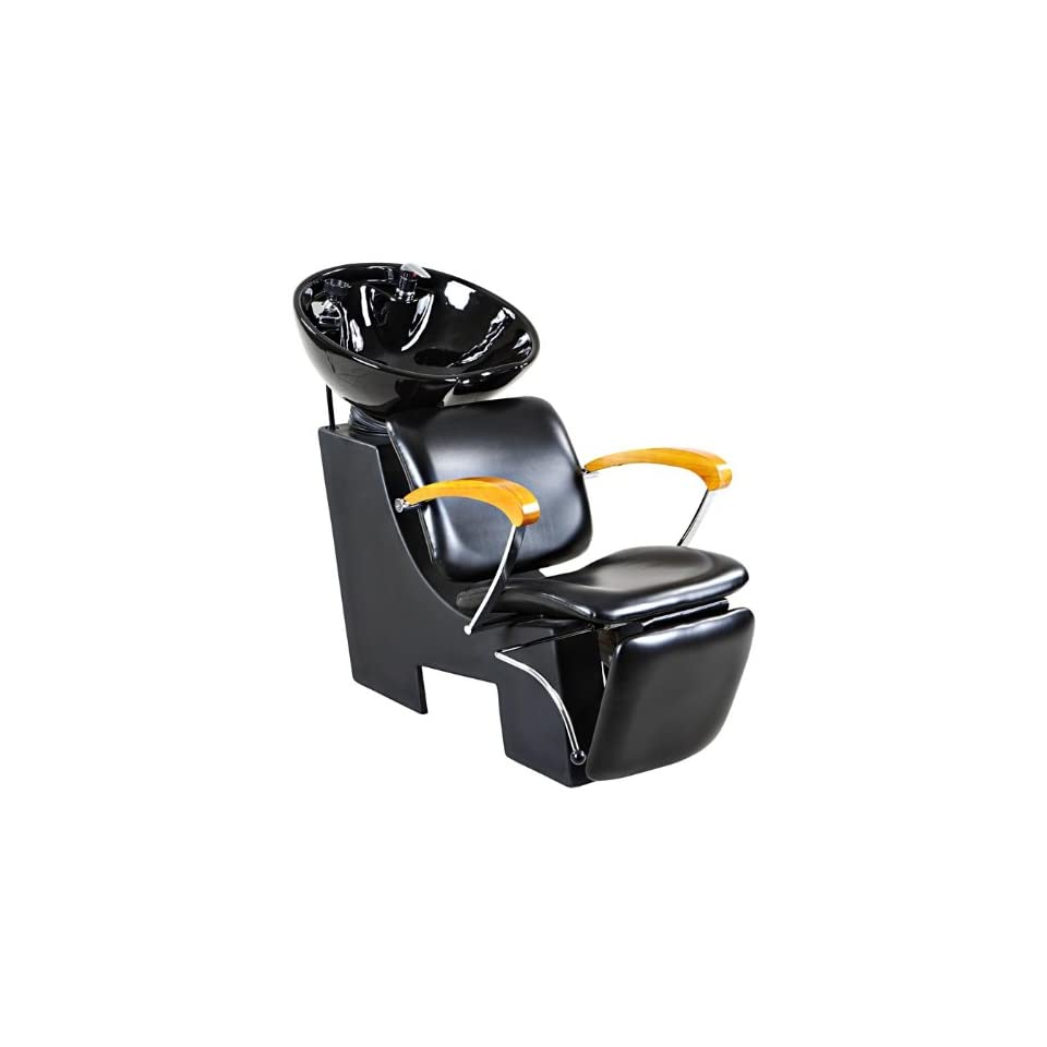 Icarus Reynolds Black Salon Shampoo Beauty Chair & Sink Bowl Backwash Unit