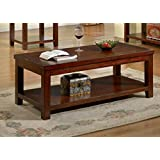 Furniture of America Torrence Transitional Coffee Table, Dark Cherry