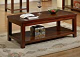 Cheap Furniture of America Torrence Transitional Coffee Table, Dark Cherry