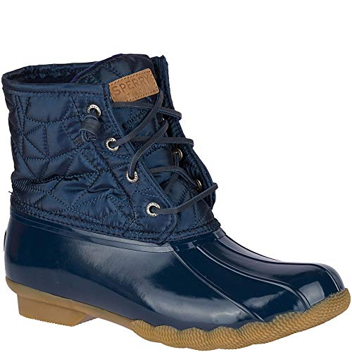 SPERRY Women's Saltwater Nylon Quilt Rain Boot, Navy, 5 M US ()