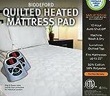Biddeford Quilted Heated Mattress Pad Queen