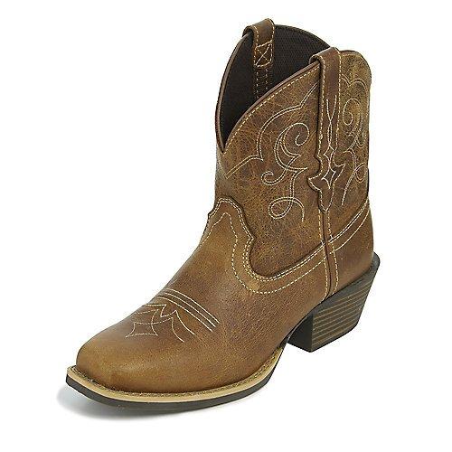 Justin Ladies Gypsy Sq Toe Chellie Tan Boots 95B