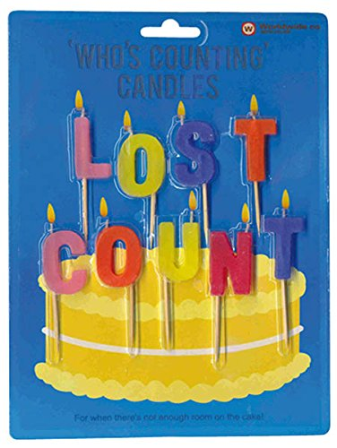 Lost Count Novelty Birthday Candles