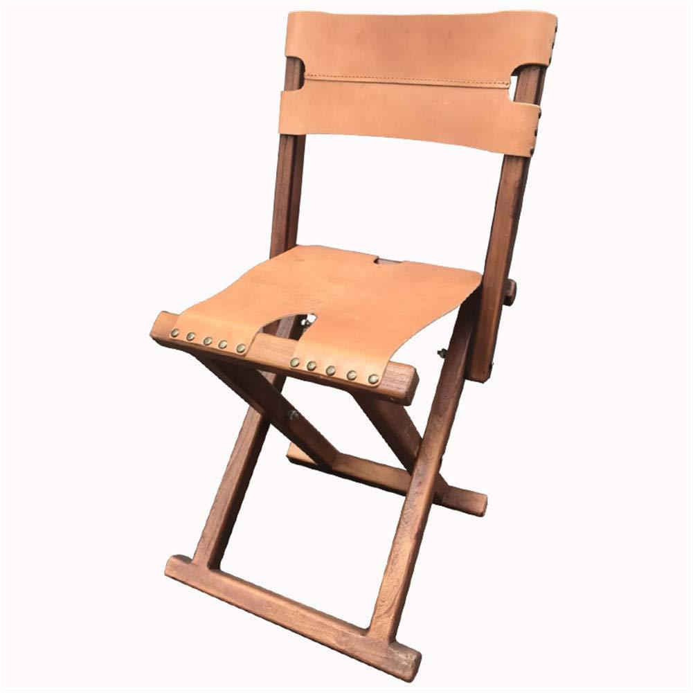 Chaise de pêche en cuir ultralégère pliable pour camping, pêche, tabouret pliable pour camping, pique-nique, randonnée  -