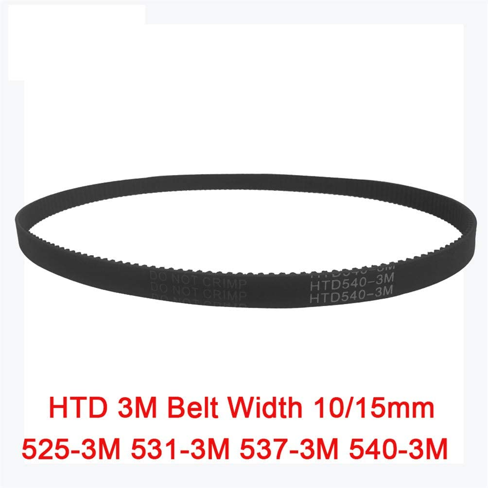 Arc HTD 3M Timing Belt C=525 531 537 540 Width 10//15Mm Teeth175 177 179 180 HTD3M Synchronous Pulle 525-3M 531-3M 537-3M 540-3M