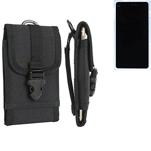 bolsa del cinturón / funda para Xiaomi Mi 4c, negro | caja del teléfono cubierta protectora bolso - K-S-Trade (TM)