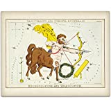 Antique Zodiac Sagittarius Constellation Plate - 11x14 Unframed Art Print - Great Home Decor or Gift to Astrology Enthusiasts