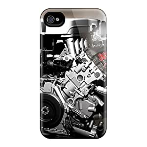 Hot AvX7784dMCA Case Cover Protector For Iphone 4/4s- Audi R8 4 2 V8 Fsi Engine
