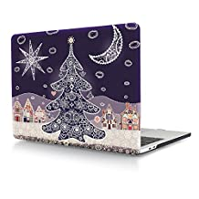 HRH Shiny Christmas Tree Design Laptop Body Shell Protective Hard Case for New Macbook Pro 13 inch with Touch bar and Touch ID A1706 / With out Touch bar A1708 (Release Oct 2016)