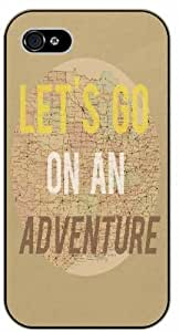 Let's go on an adventure, vintage map For Apple Iphone 5/5S Case Cover Black case 11-A