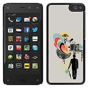 // PHONE CASE GIFT // Duro Estuche protector PC Cáscara Plástico Carcasa Funda Hard Protective Case for Amazon Fire Phone / Collage de la cámara Arte Señores Cine /