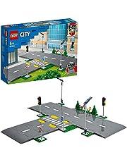 LEGO60304CityRijplatenBouwsetmetVerkeerslichtenenGlowintheDarkBouwstenen