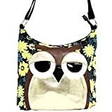 Sleepyville Critters Owl Canvas Crossbody Bag