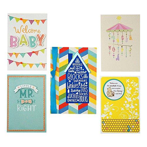 Hallmark Baby Shower Card Assortment (5 Congratulations Cards with Envelopes) by Hallmark