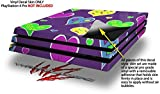 WraptorSkinz PS4 Pro Skin Crazy Hearts - Decal Style Skin Wrap fits Sony PlayStation 4 Pro Console