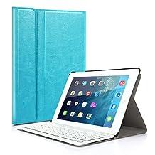 Étui à clavier pour Apple iPad Air 2 (Modèle A1566 A1567) Sans fil Bluetooth Housse de protection