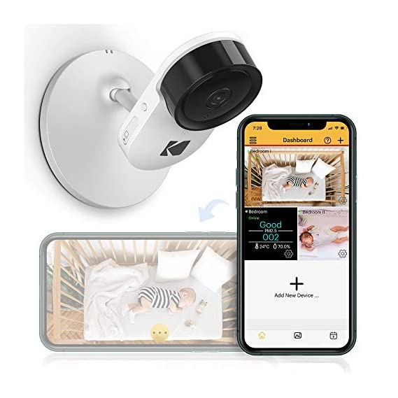 Kodak C120 Video Baby Monitor, with App and Two Way Talk, Comfort Your Baby, Elderly, Pets and Family from Anywhere