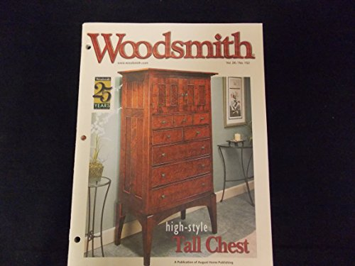 - Woodsmith Magazine - April / May 2004, (Vol. 26, No. 152) - High-Style Tall Chest, Sanding without Sandpaper, Hardwood Plywood, Using Wood Filters, Drilling Square Holes, Perfect Chamfer with a Router, Workshop Wood Storage, Lacquer and a Brush, Mortising Table, Tile-Top Craftsman Table, Craftsman-Style Futon Sofa Bed, High-Style Tall Chest, Taming Those Wild Veneers ETC. ETC.