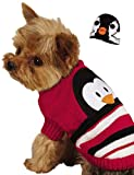 Zack & Zoey Piggy Back Pals Sweater and Hat Set for Dogs, 8'' XX-Small, Penguin