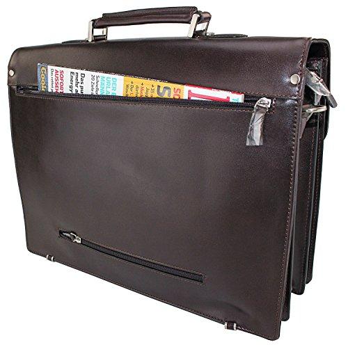*LEDER* Herren Tasche Arbeitstasche Aktentasche Tasche Akten Tasche Umhängetasche Schultertasche Dokumenten Business Büro