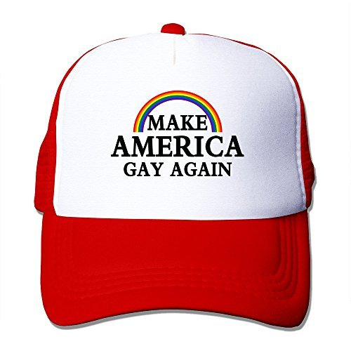 Men Make America Gay Again Funny Mesh Back Hat Baseball Hats
