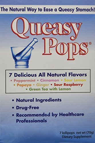 (Three Lollies - Queasy Pops - Assorted - 7 Lollipops Pack, Drug Free by Three Lollies)