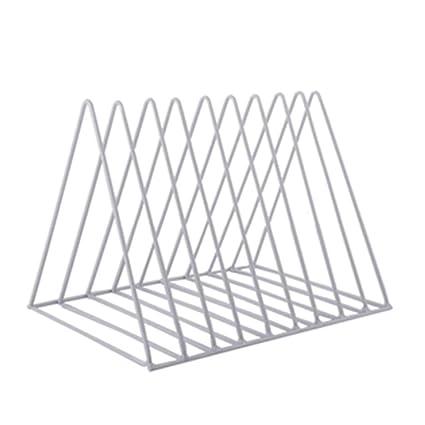 Desktop Book Storage Rack Iron Triangular Bookshelf Organizing Shelf Bookcase Office & School Supplies