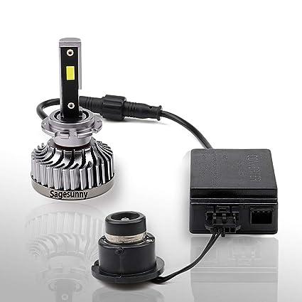 bombilla D2S de ° D2C de Kit canbus Reemplazo xenónplug play D2R 360 LED conversión error anti SAGESUNNY de blanco D2R de D2S 5500k puroLED and 7IvbgfyY6m