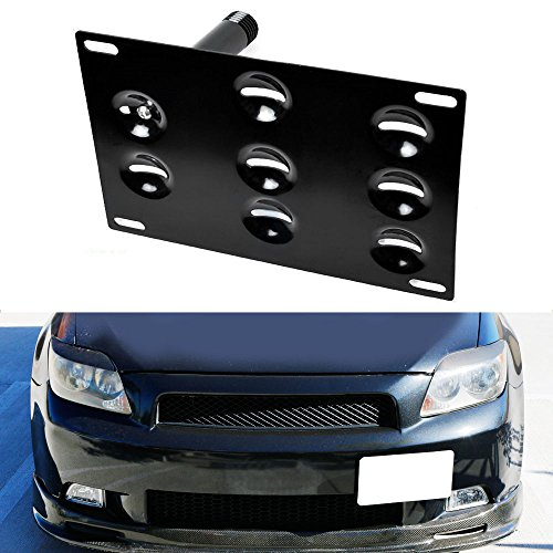 iJDMTOY JDM Style Front Bumper Tow Hole Adapter License Plate Mounting Bracket For 2005-2010 1st Gen Scion tC (ANT10)