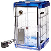Bel-Art Secador Vertical Profile Clear 4.0 Auto-Desiccator Cabinet with Blue End-
